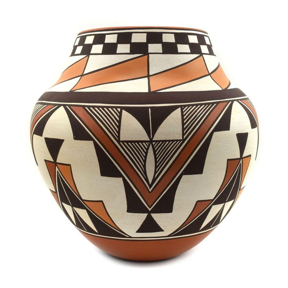"Gladys Paquin ""Stratyu'we"" - Laguna/Zuni Polychrome Vase"
