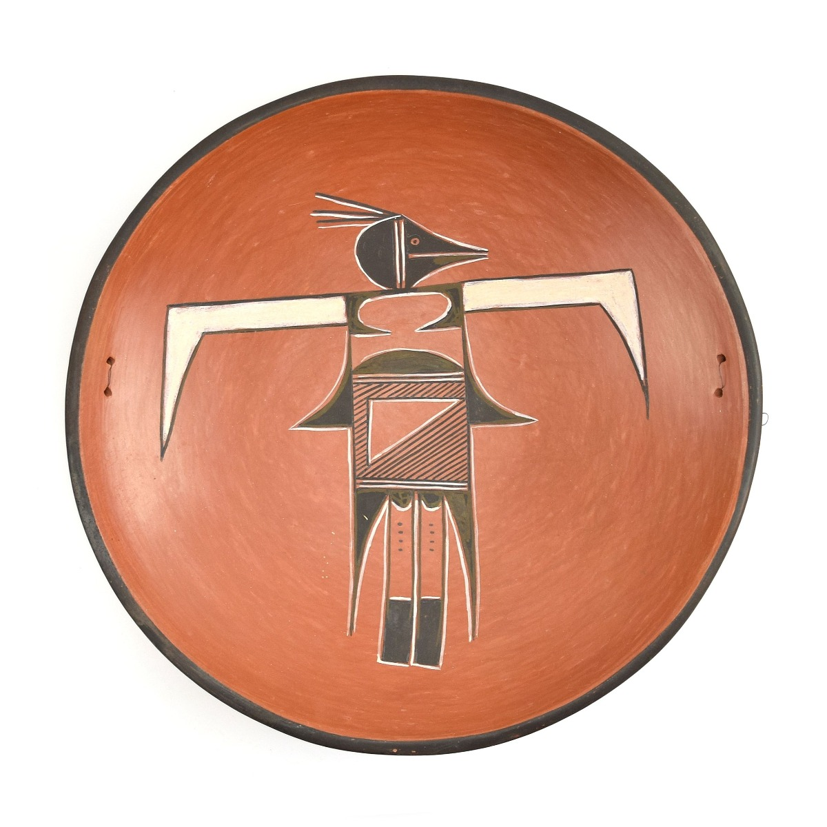 Garnet Pavatea - Hopi Bowl with Thunderbird Design
