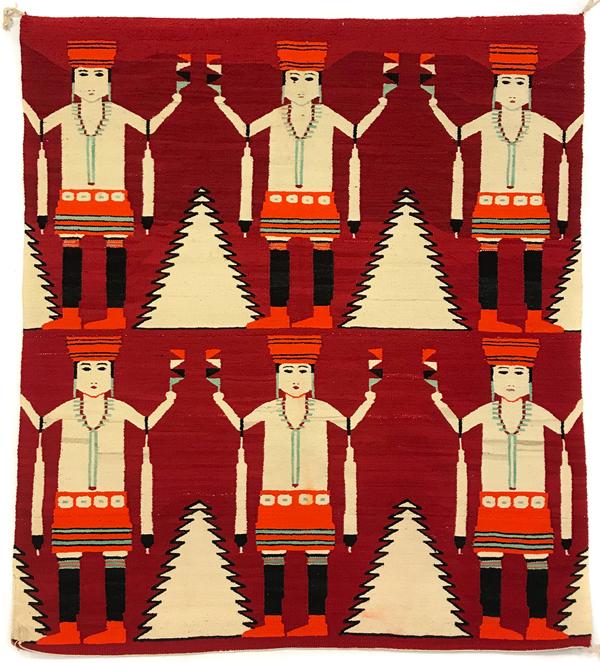 Navajo Mountain Way Dancers pictorial rug