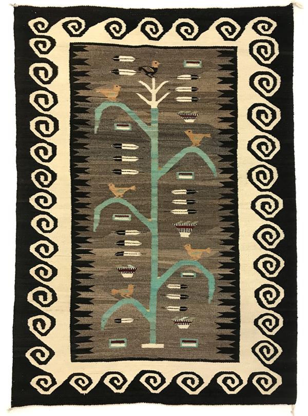 Navajo pictorial rug - tree of life
