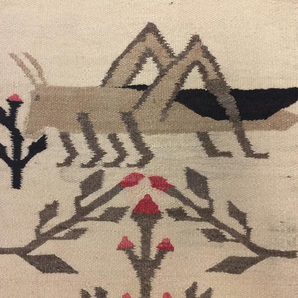 Navajo pictorial rug grasshopper motif