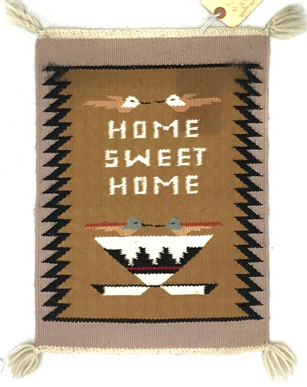 Navajo Pictorial Rug with Home Sweet Home