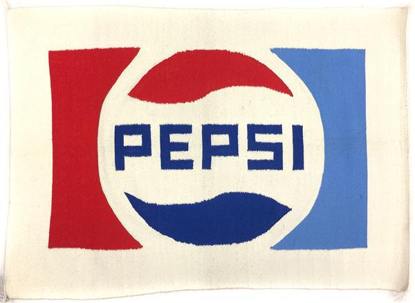 Navajo Pictorial Rug with Pepsi Logo