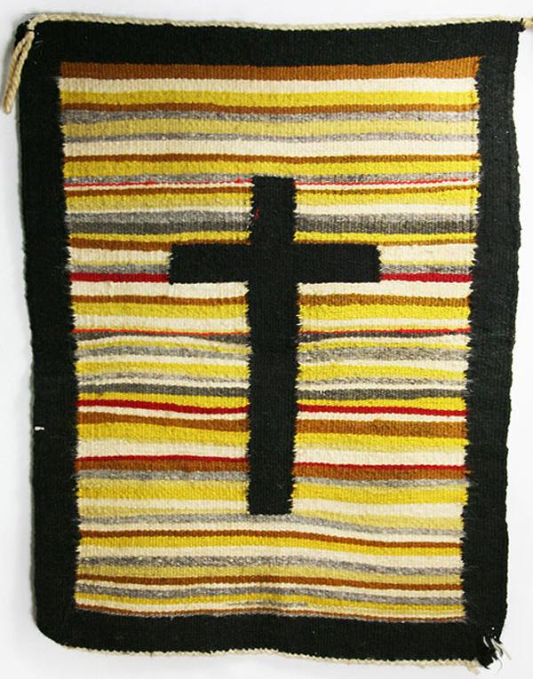 Navajo Pictorial Weaving with Cross