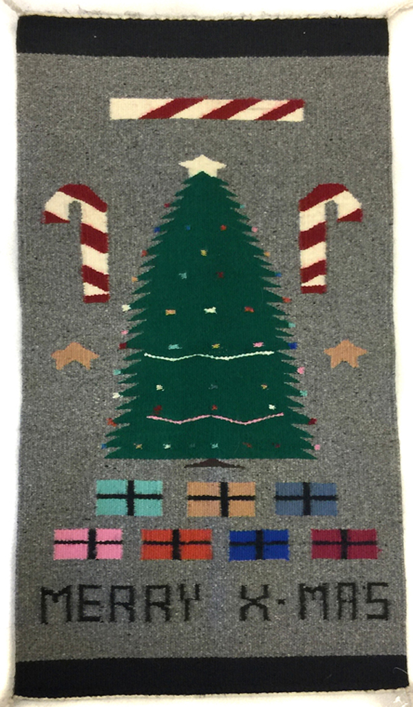 Navajo pictorial sampler with Christmas tree