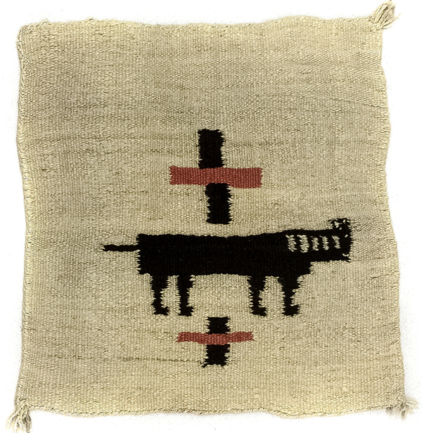 Early Navajo Pictorial weaving with horse