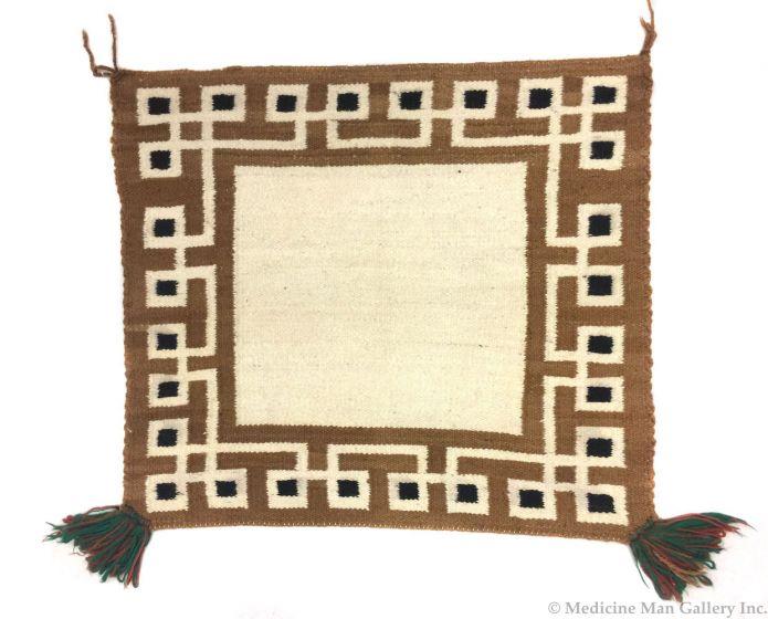 Navajo saddle blanket with tassels