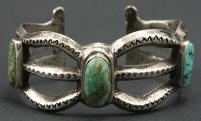Navajo sandcast bracelet c 1900