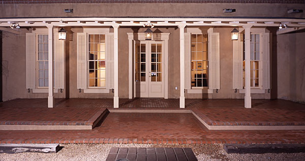 New Gallery 602A Canyon Road Santa Fe Exterior View Night