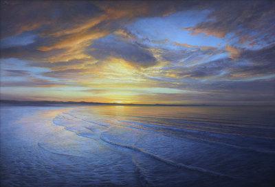 "P. A. Nisbet, Dawn, Sea of Cortez, Oil on Canvas, 36"" x 52"""