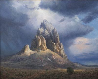 """P. A. Nisbet, Rain God, Oil on Canvas, 40"""" x 48"""""""