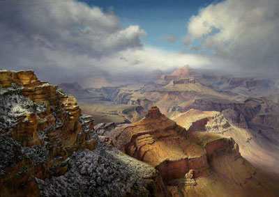 P. A. Nisbet, Storm Break at Yaki Point, Oil on Canvas, 48