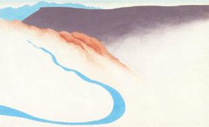 Georgia O'Keeffe, Road Past the View II,c. 1964, 18 x 30