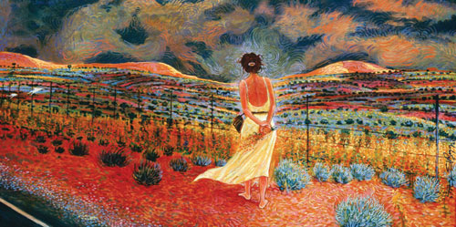 Shonto Begay, Passing Storm, Acrylic on Canvas, 36