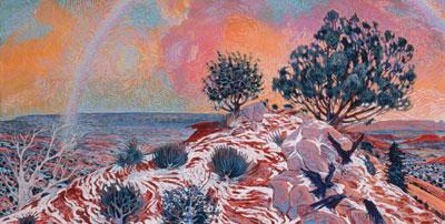 Shonto Begay, Reception, Acrylic on Canvas, 24