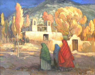 Francis Livingston, The Emerging Light, oil on panel, 24 x 30