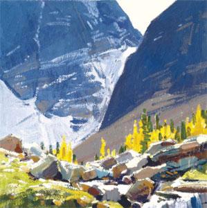 """John Moyers, On the Trail to Lake Oesa, Oil, 12"""" x 12"""""""