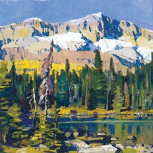 "John Moyers, Autumn Lake O'Hara, oil, 12"" x 12"""