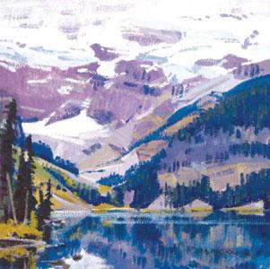 """John Moyers, Lake Louise, oil, 12"""" x 12"""""""