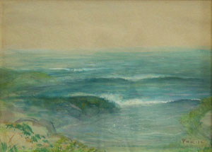 "Bert Geer Phillips, Bert-La Jolla Seascape, Watercolor on Paper, Circa 1920, 9"" x 14"""