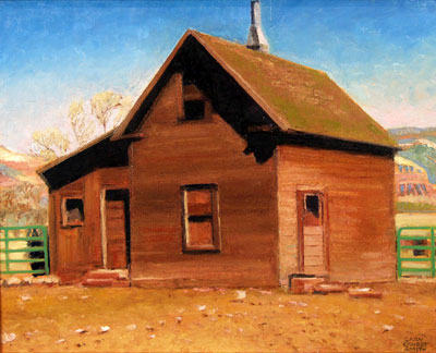 "Gary Ernest Smith, Pioneer Home, Oil on Canvas, 16"" x 20"""