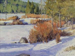 "Josh Elliott, Close to Spring, Oil on panel, 12"" x 16"""