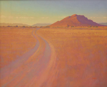 Glenn Renell, Road to Three Sisters, Oil on Panel, 20