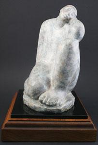 "Shirley Thomson-Smith, Repose, Bronze Edition of 35, 10"" x 8"" x 6.5"""