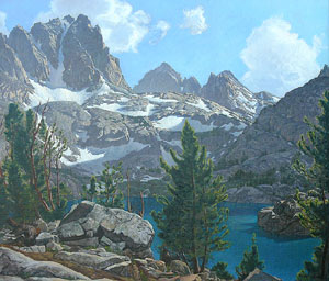 "Robert Clunie, Robert Clunie Fifth Lake Palisade Region Sierra Nevada, Circa 1940, Oil on Canvas,  26"" x 30"""