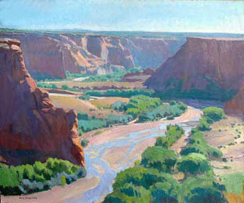 Ray Roberts, Tsegi Overlook, Oil on Canvas, 25