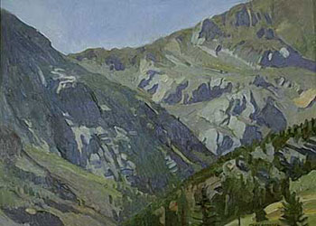 Ray Roberts, Tioga Pass, Oil on Panel, 12