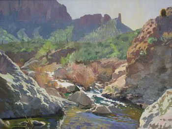 Ray Roberts, Along the Apache Trail, Oil on Canvas, 30