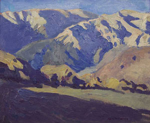 Ray Roberts, Near Lone Pine, Oil on Panel, 10