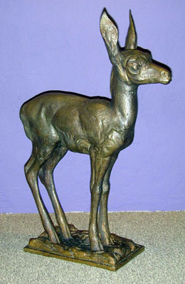 "Mark Rossi, Antelope Fawn, Bronze Edition of 27, 27"" x 20"" x 8"""