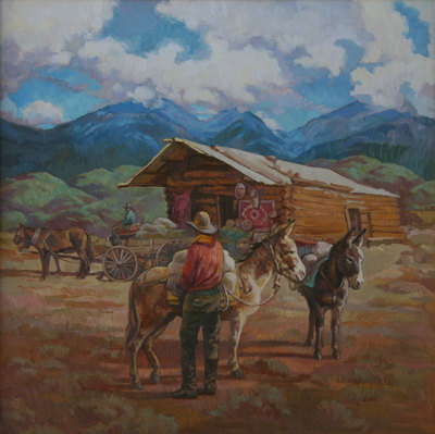 "Sue Rother, Casa Diablo, Oil on Panel, 22"" x 22"""