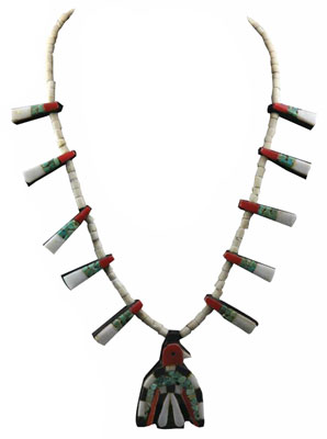 Santo Domingo Thunderbird Depression Era Necklace, c. 1930