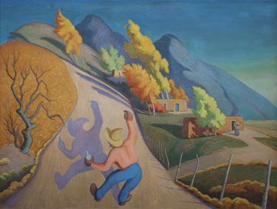 "Albert Herman Schmidt, c. 1930, Oil on Board, 36"" x 48"""