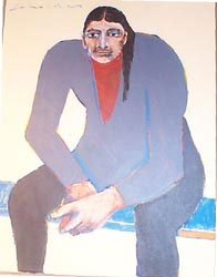 "Fritz Scholder, Untitled, Oil on Canvas, dated 1997, 18"" x 14"""
