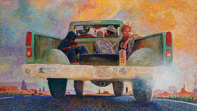 Shonto Begay, Moab Bound, Acrylic on Canvas, 48