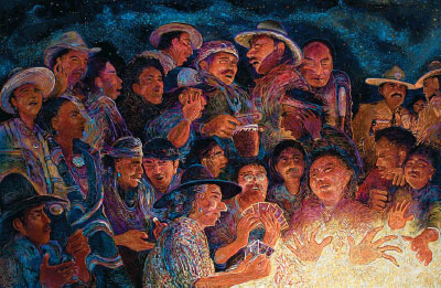 Shonto Begay, Second Night Glow, Acrylic on Canvas, 52