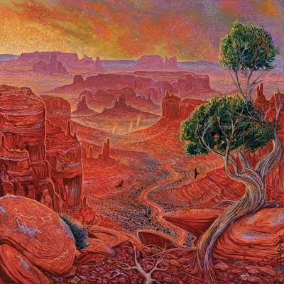 Shonto Begay, Monument Symphony, Acrylic on Canvas, 48