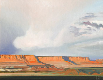 Gary Ernest Smith, Storm Clouds over Mesas, Oil on Canvas, 16