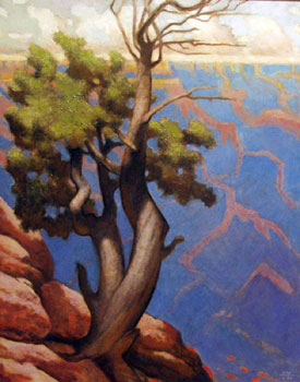 Gary Ernest Smith, Canyon View, Oil on Linen, 30