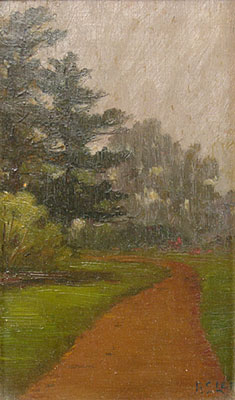 "Bertha Stringer Lee, Golden Gate Park, Oil, 8"" x 4.75"""