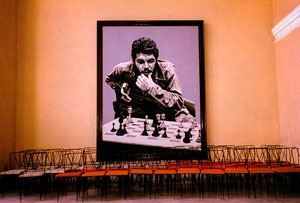 "Ned Sublette, Che Plays Chess, Matazas, Color Photograph, 11"" x 14"""
