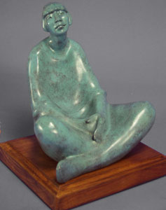 "Shirley Thomson-Smith, Remembering, Bronze Edition of 15, 8"" x 8"" x 7.5"""