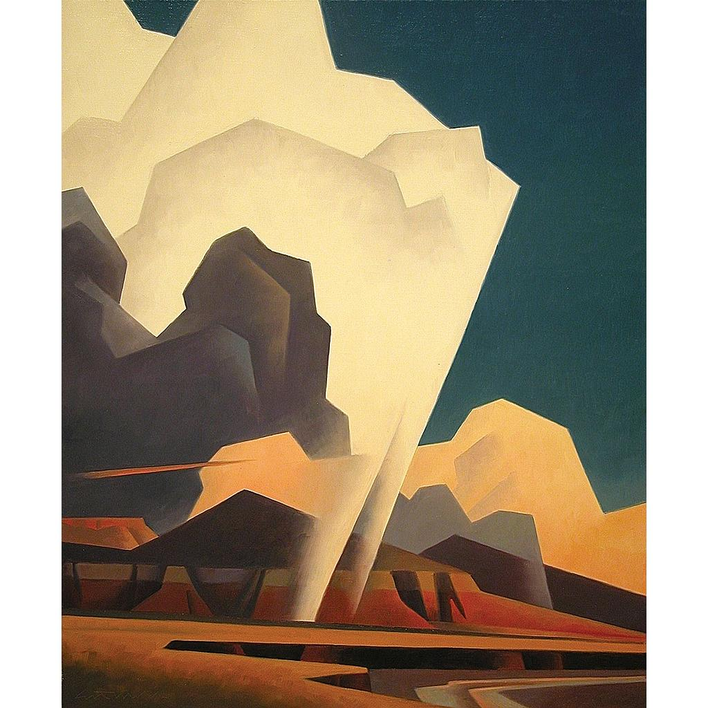 Ed Mell, Weather Above, oil on linen, 24