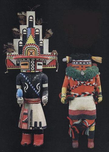 Hopi Hemis Katsina and Zuni Nahalish Corn Dancer Katsina