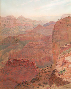 "Gunnar Widforss, Grand Canyon, Watercolor on Paper, 1925, 17"" x 13"""