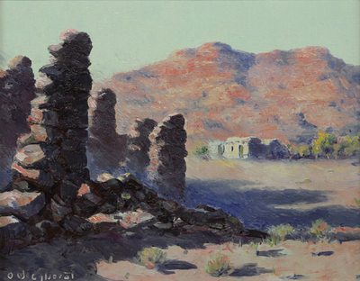 Olaf Wieghorst, Marble Canyon Country, Oil on Canvas, 1930, 10